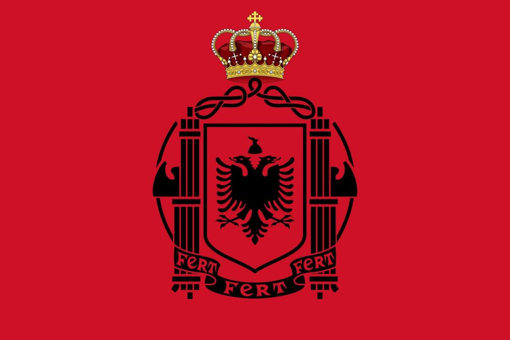 2000px-Flag_of_Albania_(1939_crowned)_svg wallpaper