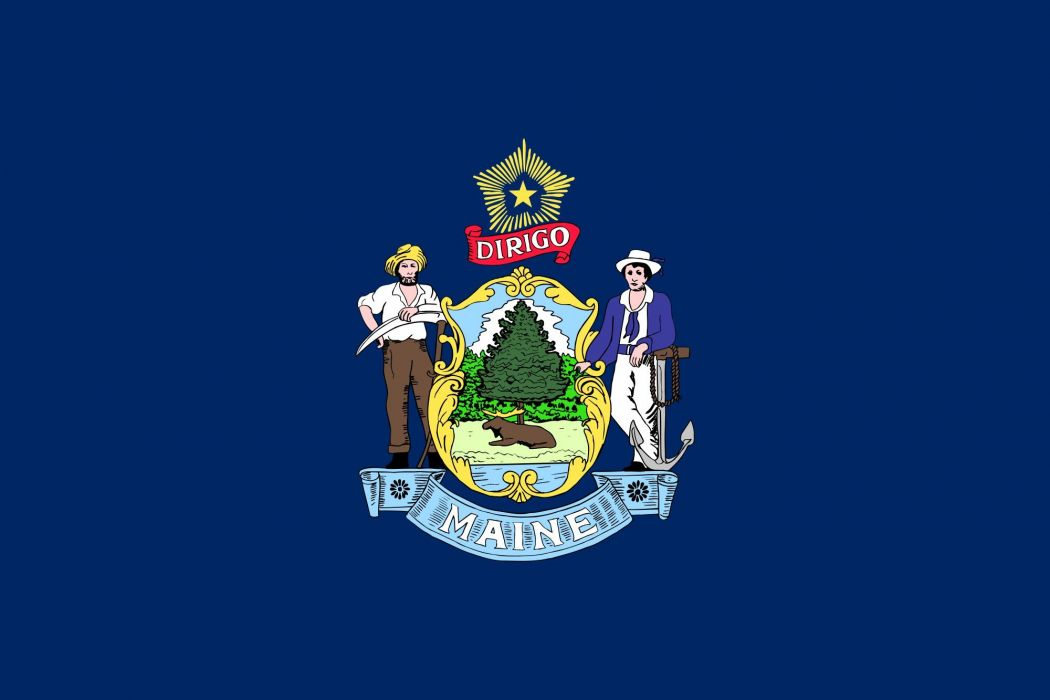 2000px-Flag of Maine_svg wallpaper