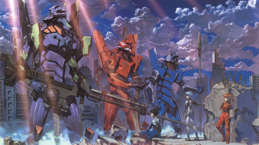Neon Genesis Evangelion EVAs wallpaper