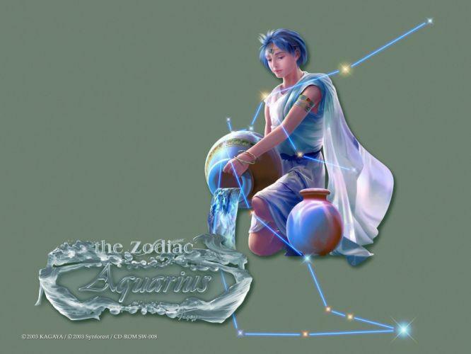 zodiac Kagaya Yutaka Aquarius Zodiac wallpaper
