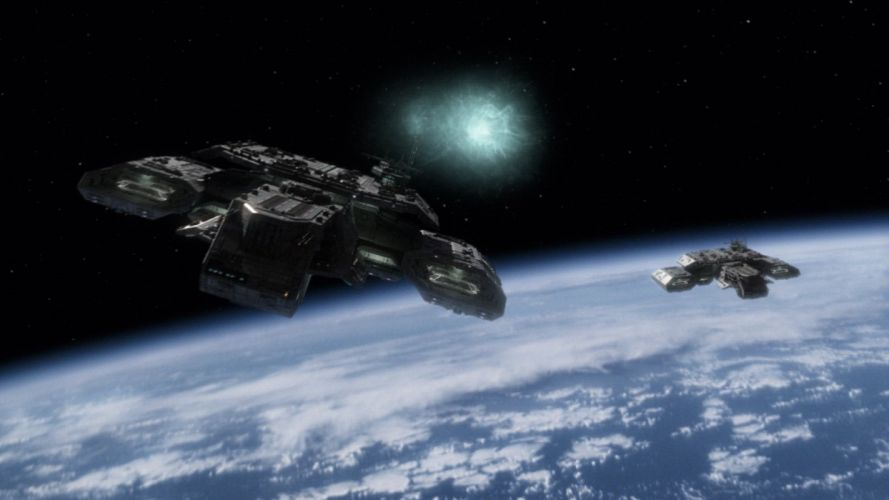 outer space stars deadalus Stargate SG-1 hyperspace wallpaper
