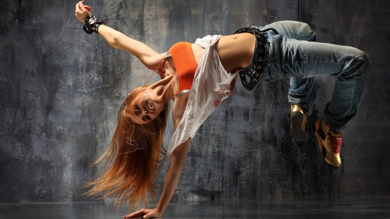 women jeans breakdancing wallpaper