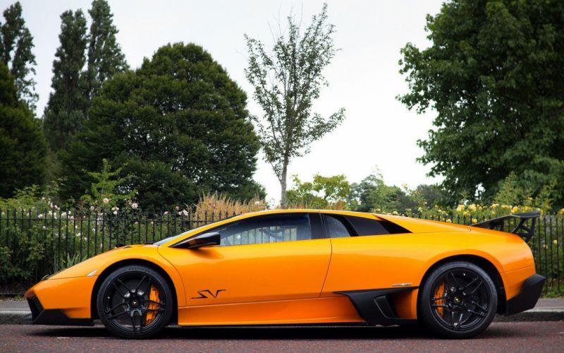 cars Lamborghini orange cars wallpaper