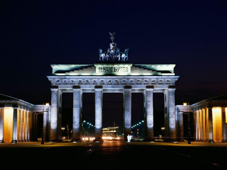 cityscapes Berlin cities Brandenburg Gate wallpaper