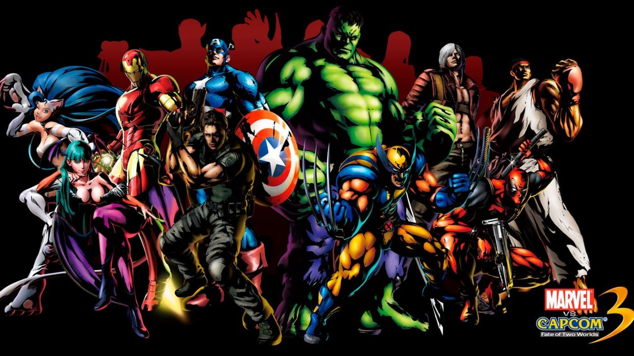 Hulk (comic character) video games Deadpool Wade Wilson Dante Marvel vs Capcom The Avengers Chris Redfield Marvel vs Capcom 3 wallpaper