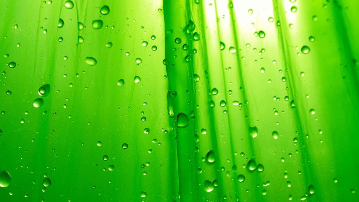 green water drops wallpaper