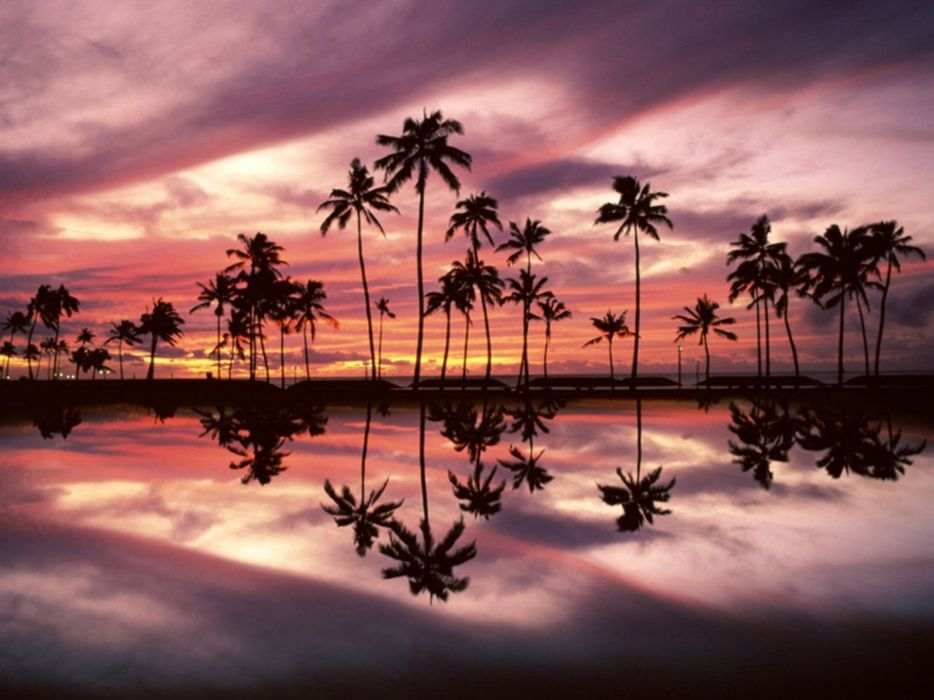 landscapes nature Hawaii beaches wallpaper