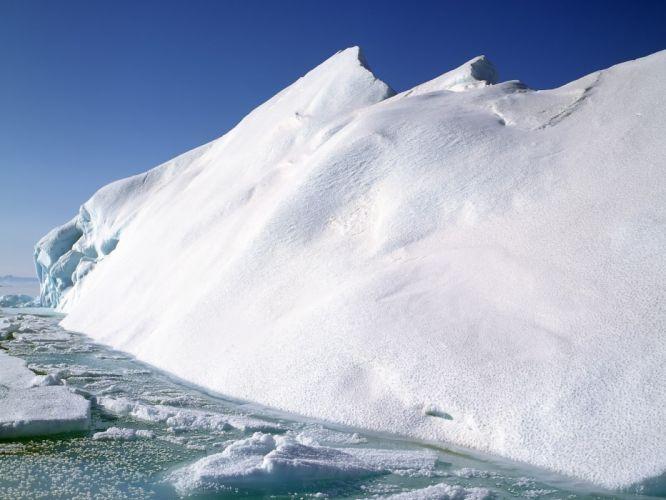landscapes icebergs wallpaper