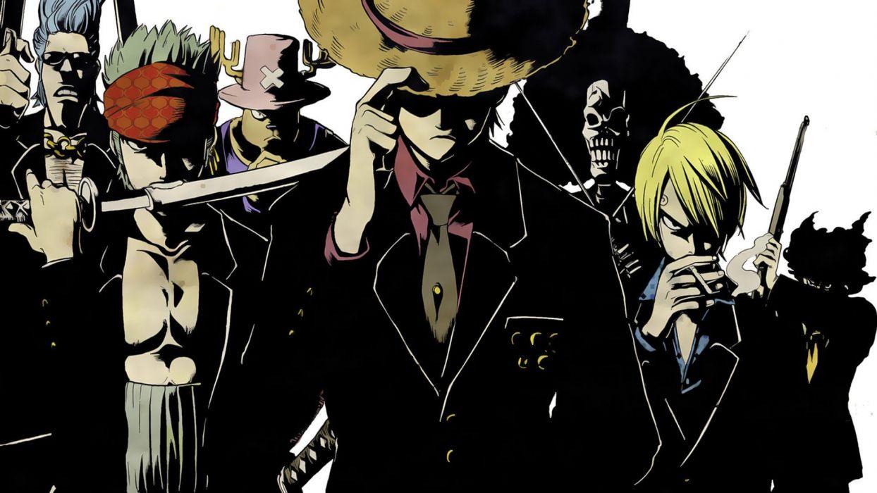 One Piece (anime) Roronoa Zoro chopper Franky (One Piece) Brook (One Piece) Strawhat pirates Monkey D Luffy Usopp Sanji (One Piece) wallpaper