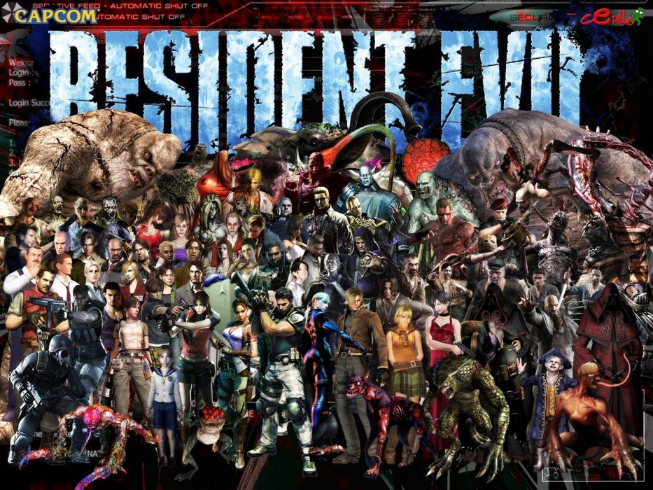 Resident Evil Claire Redfield Jill Valentine nemesis Chris Redfield Albert Wesker Sheva Alomar Barry Burton Leon S_ Kennedy wallpaper