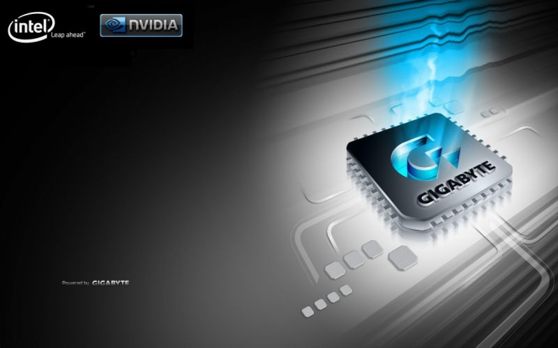 Nvidia Intel Gigabyte wallpaper