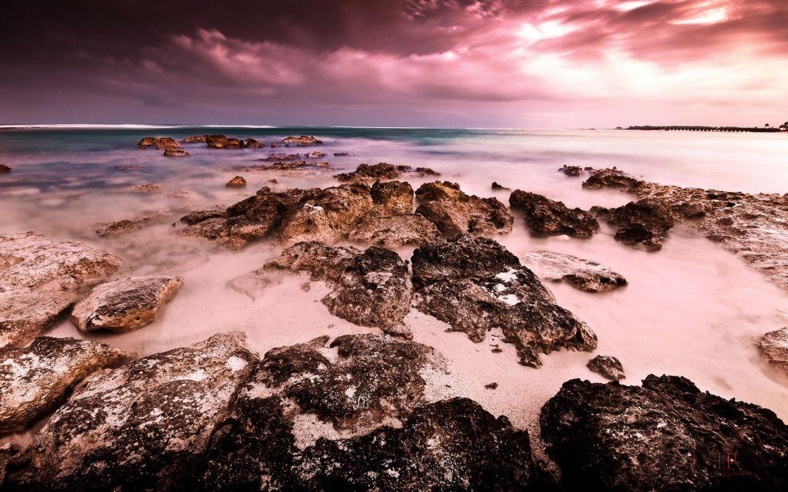 coast skies sea wallpaper