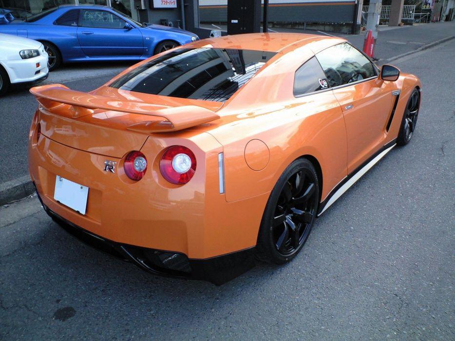 Nissan orange cars wallpaper