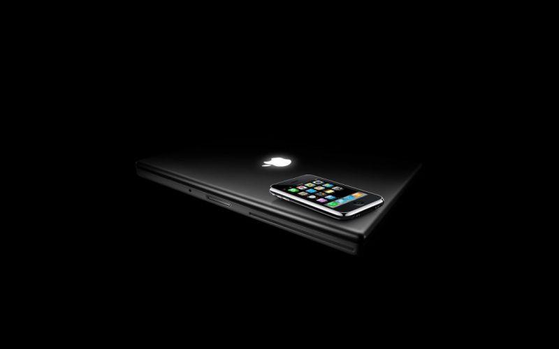 Apple Inc_ iPhone black background wallpaper