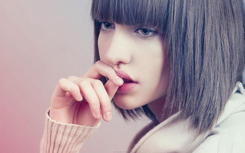 eyes fashion lips faces wallpaper