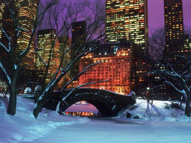 night Central Park York cities Nightsky wallpaper