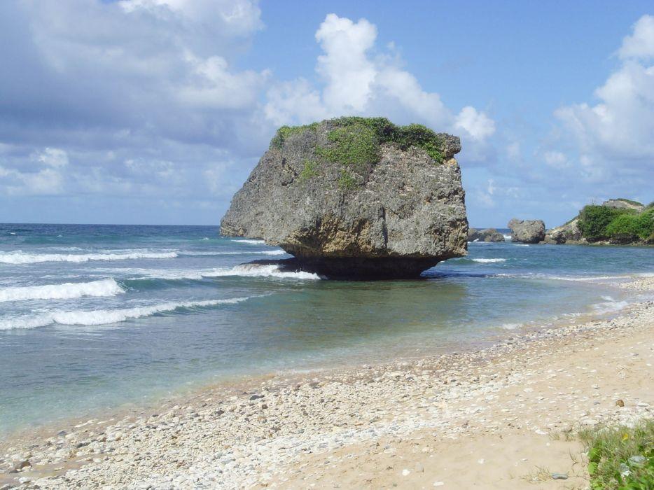 landscapes rocks beaches wallpaper
