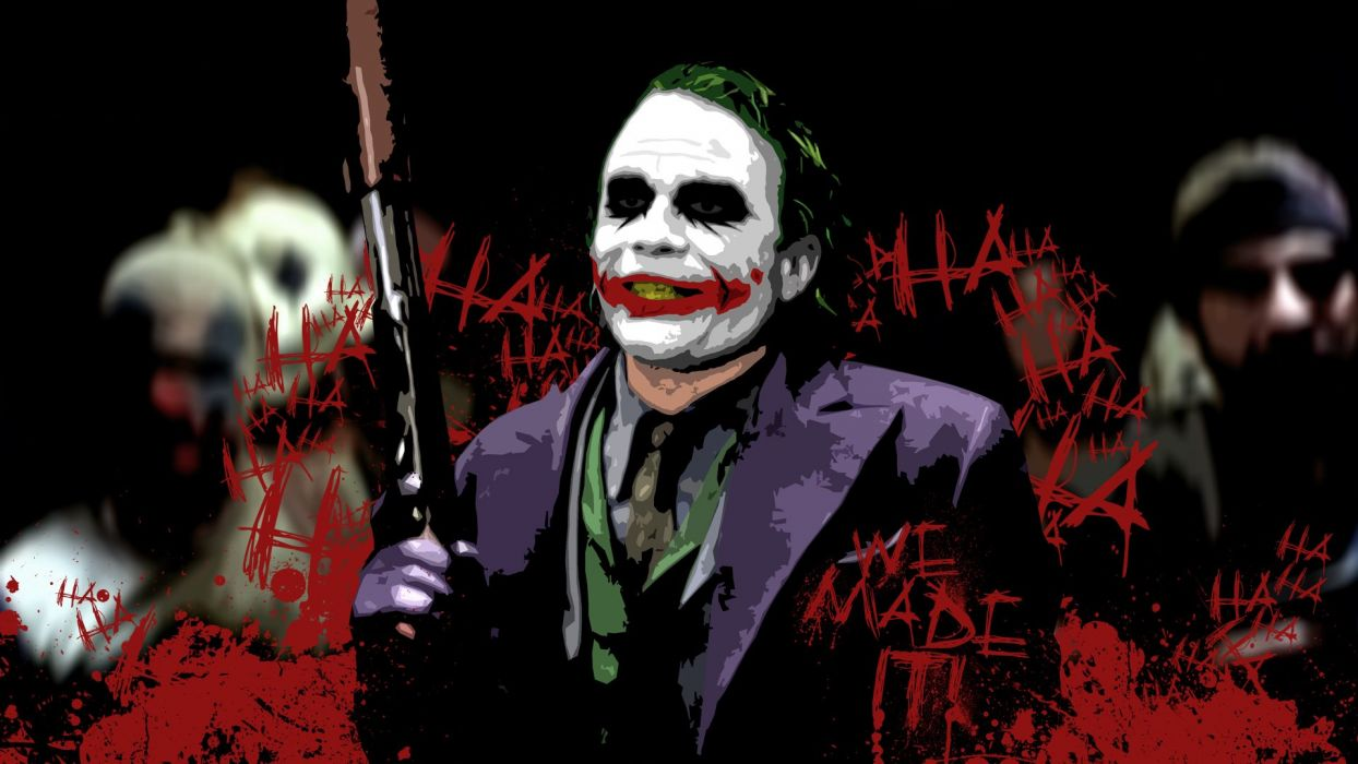 Batman The Joker The Dark Knight wallpaper