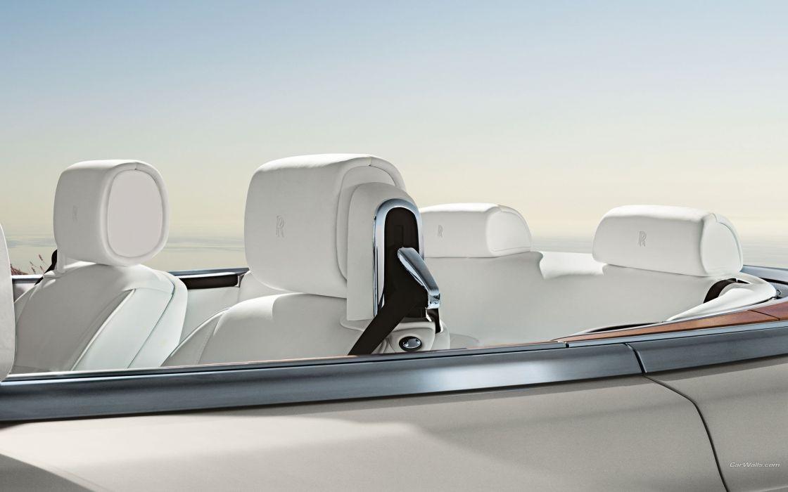 white phantom Rolls Royce Phantom leather seats wallpaper