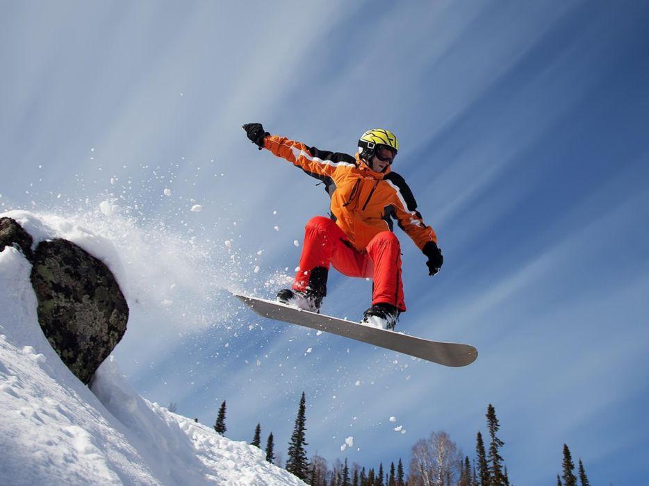 nature snow snowboarding skiing wallpaper