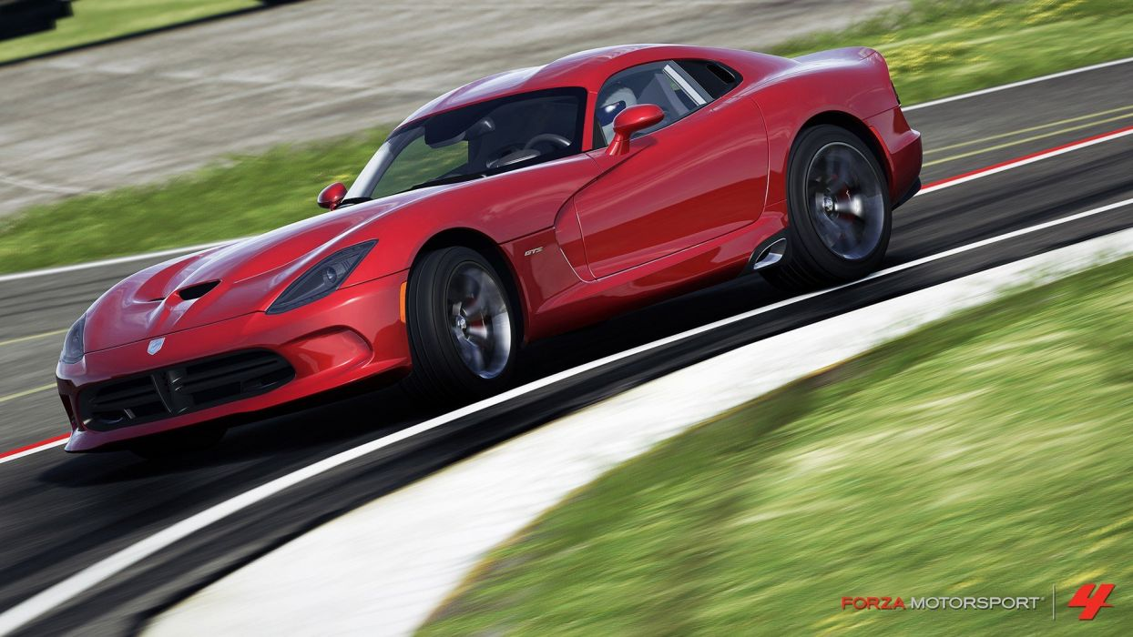 video games cars Xbox 360 Dodge Viper GTS Forza Motorsport 4 wallpaper