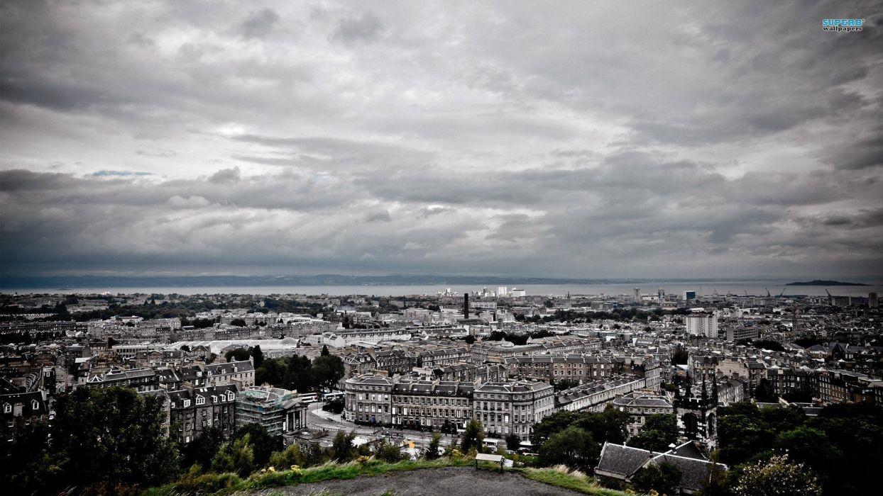 cityscapes Edinburgh wallpaper