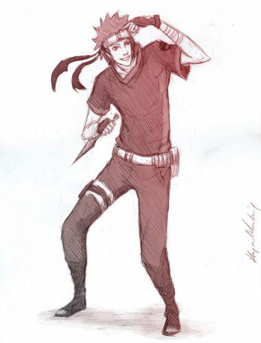 sketches Naruto: Shippuden red eyes kunai drawings Uchiha Obito white background wallpaper