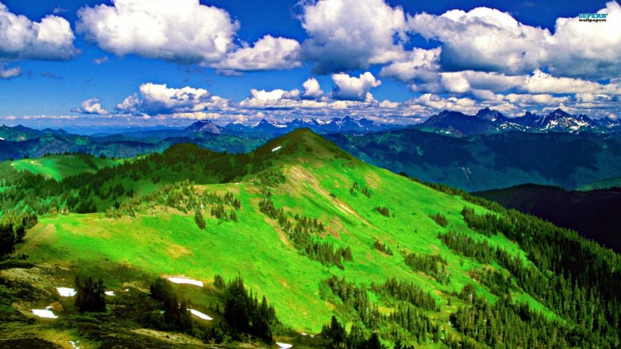 mountains panorama wallpaper