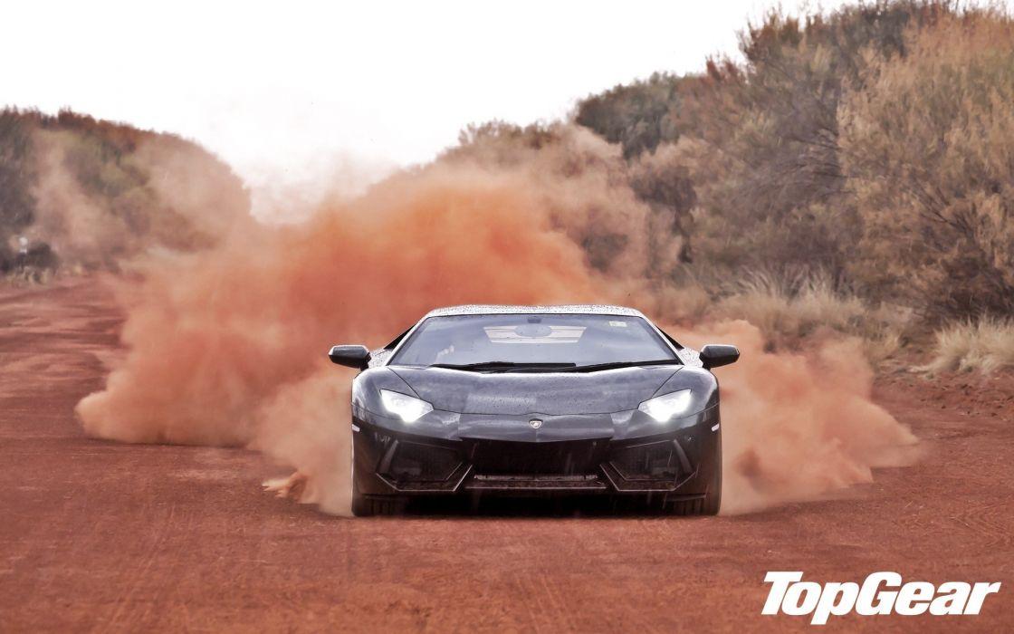 cars Top Gear Lamborghini Aventador wallpaper