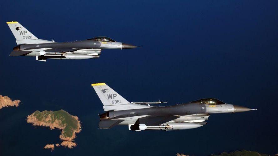 aircraft F-16 Fighting Falcon war Aircraft wallpaper
