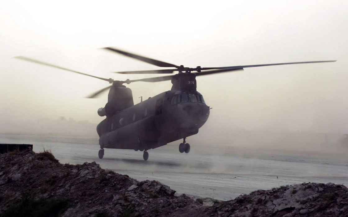 aircraft military helicopters vehicles CH-47 Chinook wallpaper