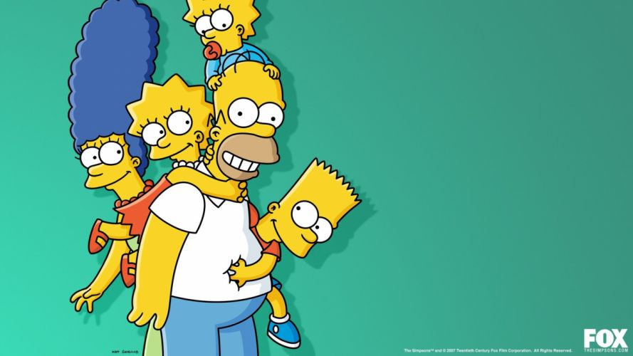 family Homer Simpson The Simpsons Bart Simpson Lisa Simpson Marge Simpson Maggie Simpson wallpaper