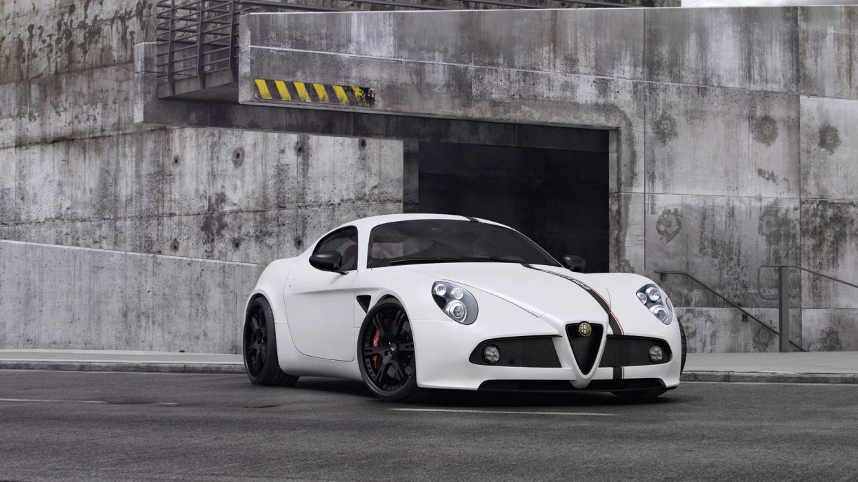 cars Alfa Romeo Alfa Romeo 8C Wheelsandmore wallpaper