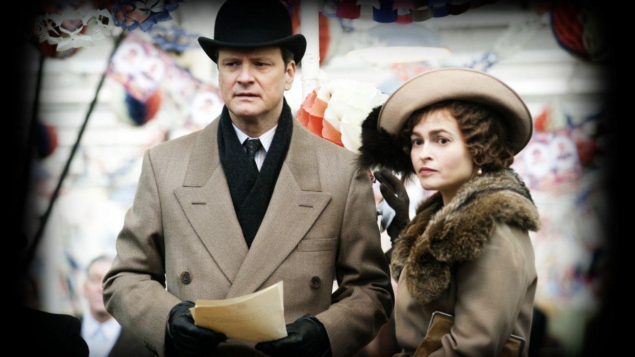 movies Helena Bonham Carter The Kings Speech Colin Firth wallpaper
