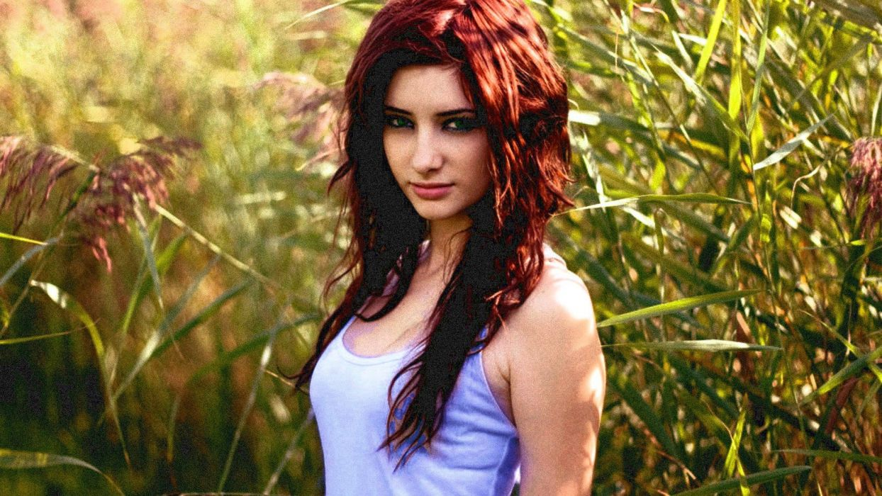 women Susan Coffey redheads models wallpaper