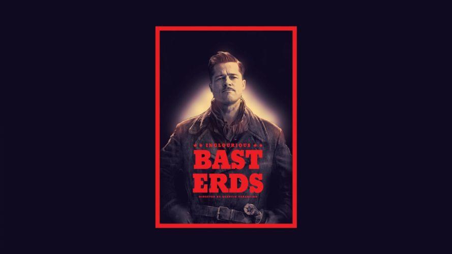 Brad Pitt movie posters Inglorious Basterds wallpaper