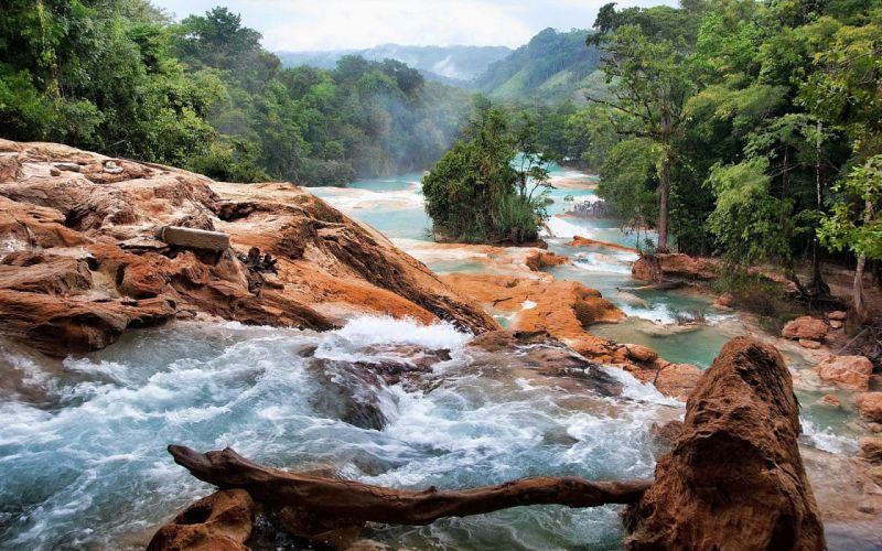 landscapes nature rivers wallpaper