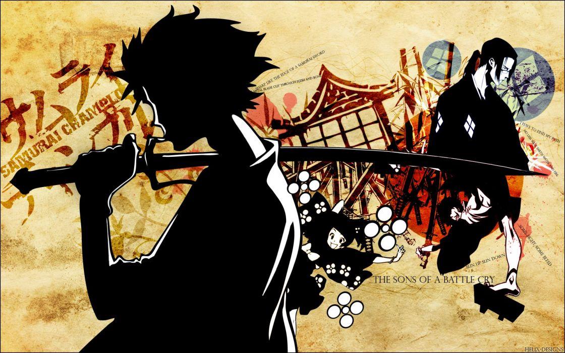 Samurai Champloo katana samurai Jin Mugen anime anime boys Japanese clothes wallpaper