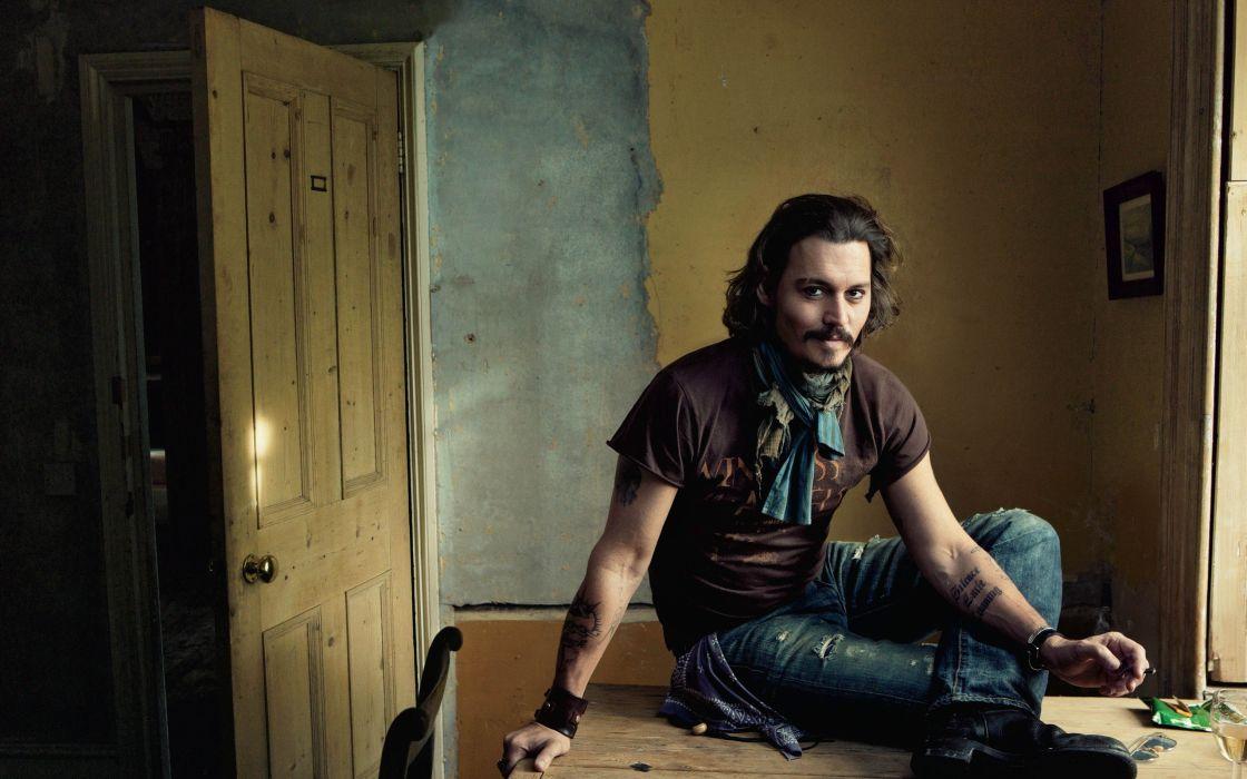 tattoos men Johnny Depp actors wallpaper