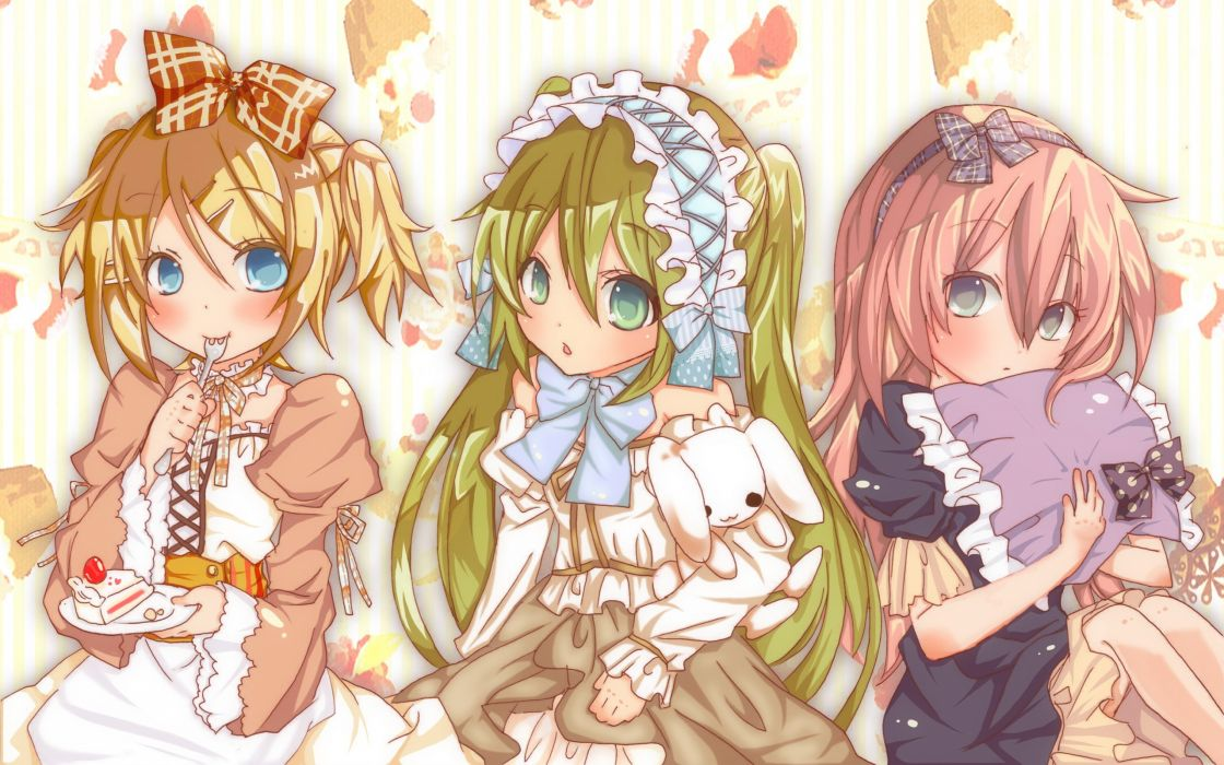Vocaloid Hatsune Miku Megurine Luka Kagamine Rin wallpaper