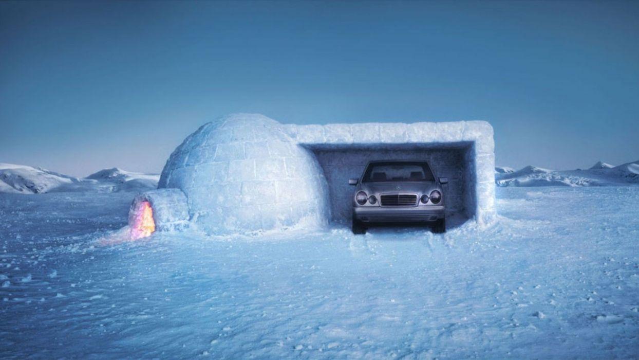 snow cars wallpaper
