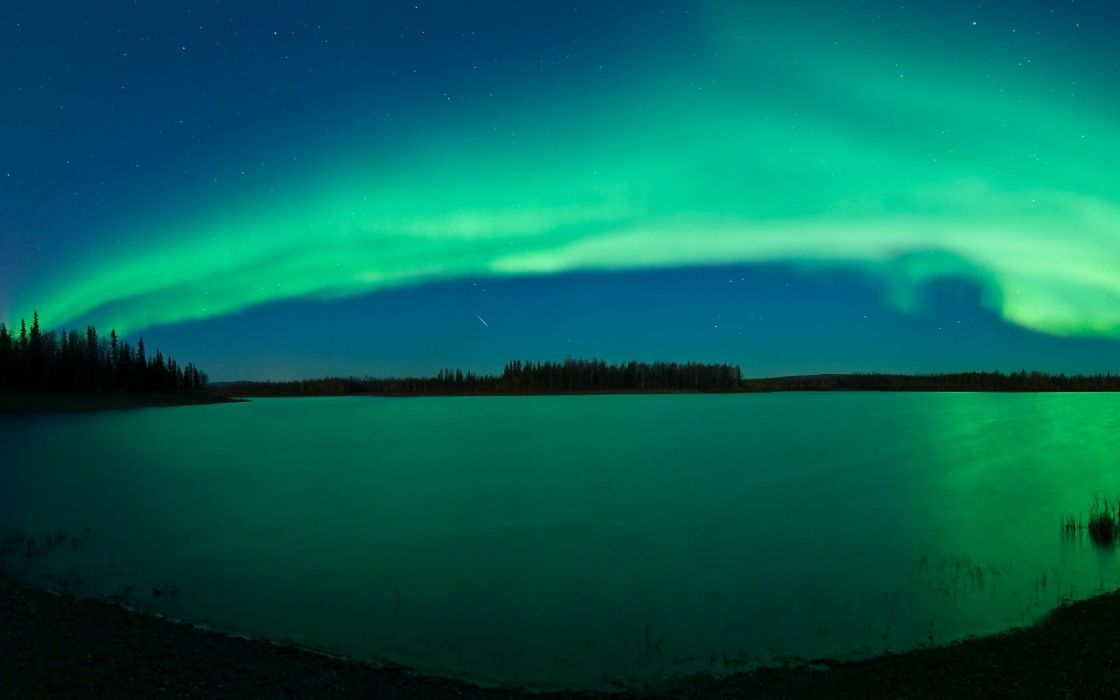 aurora borealis widescreen wallpaper