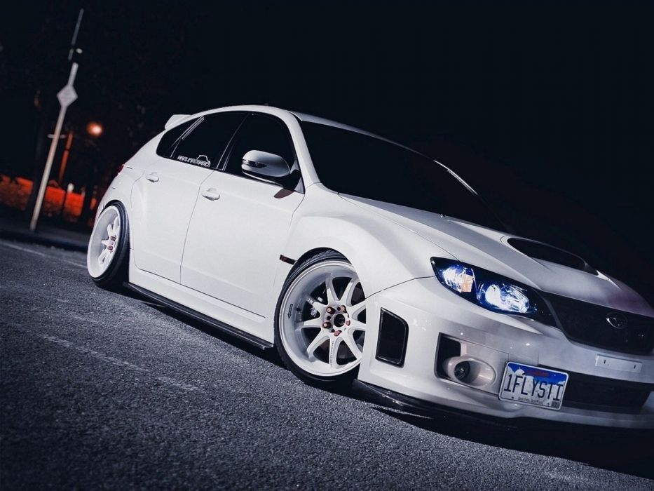 cars vehicles white cars Subaru Impreza wallpaper