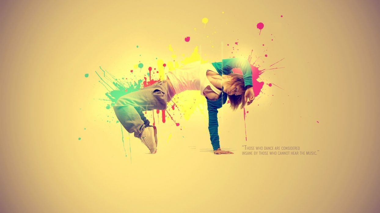 Abstract Multicolor Quotes Dancers Dancing Colors Wallpaper 1920x1080 301823 Wallpaperup