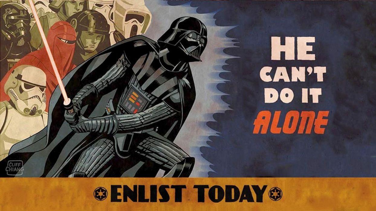 Star Wars Darth Vader lonely military art wallpaper