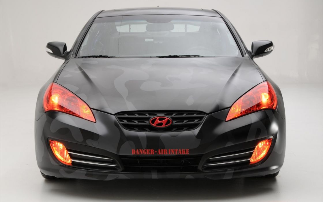 cars vehicles Hyundai Hyundai Genesis Coupe front view wallpaper