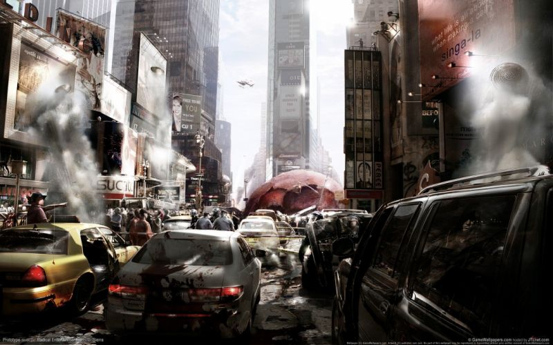video games ruins cityscapes 3D renders Prototype (video game) Activision mutation wallpaper