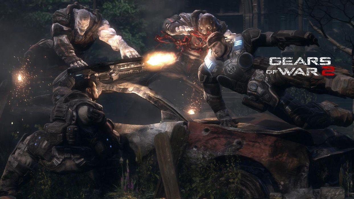 video games Gears of War Gears of War 2 wallpaper
