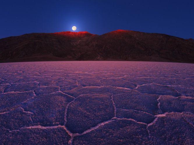 landscapes nature California Death Valley National Park Moonrise wallpaper