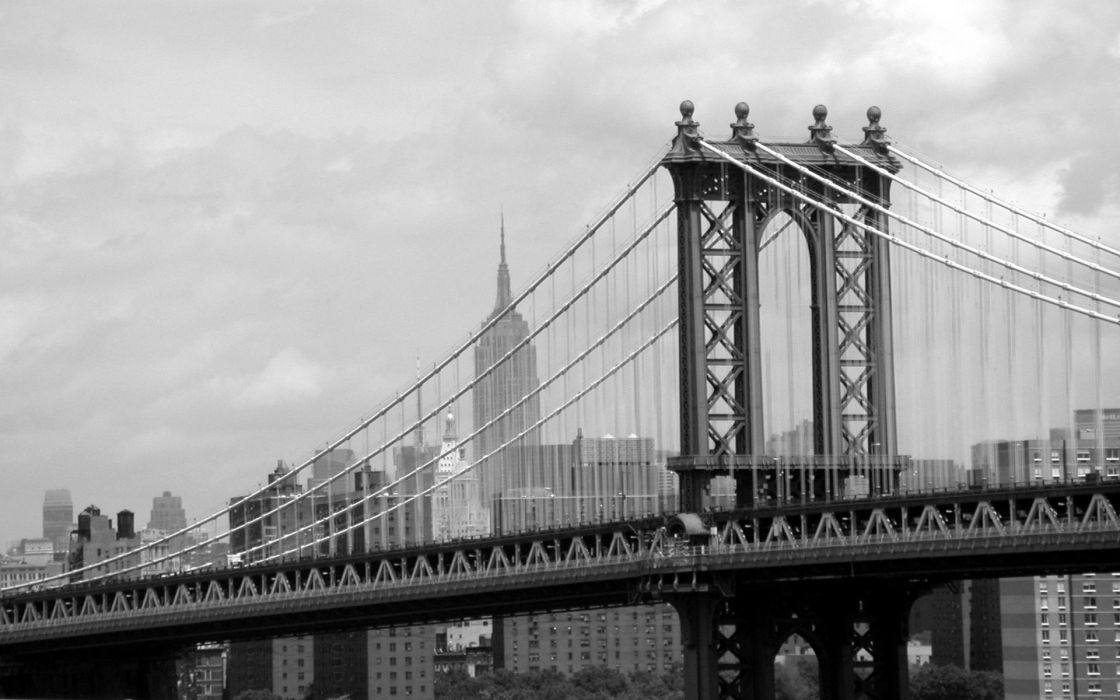 bridges New York City cities wallpaper